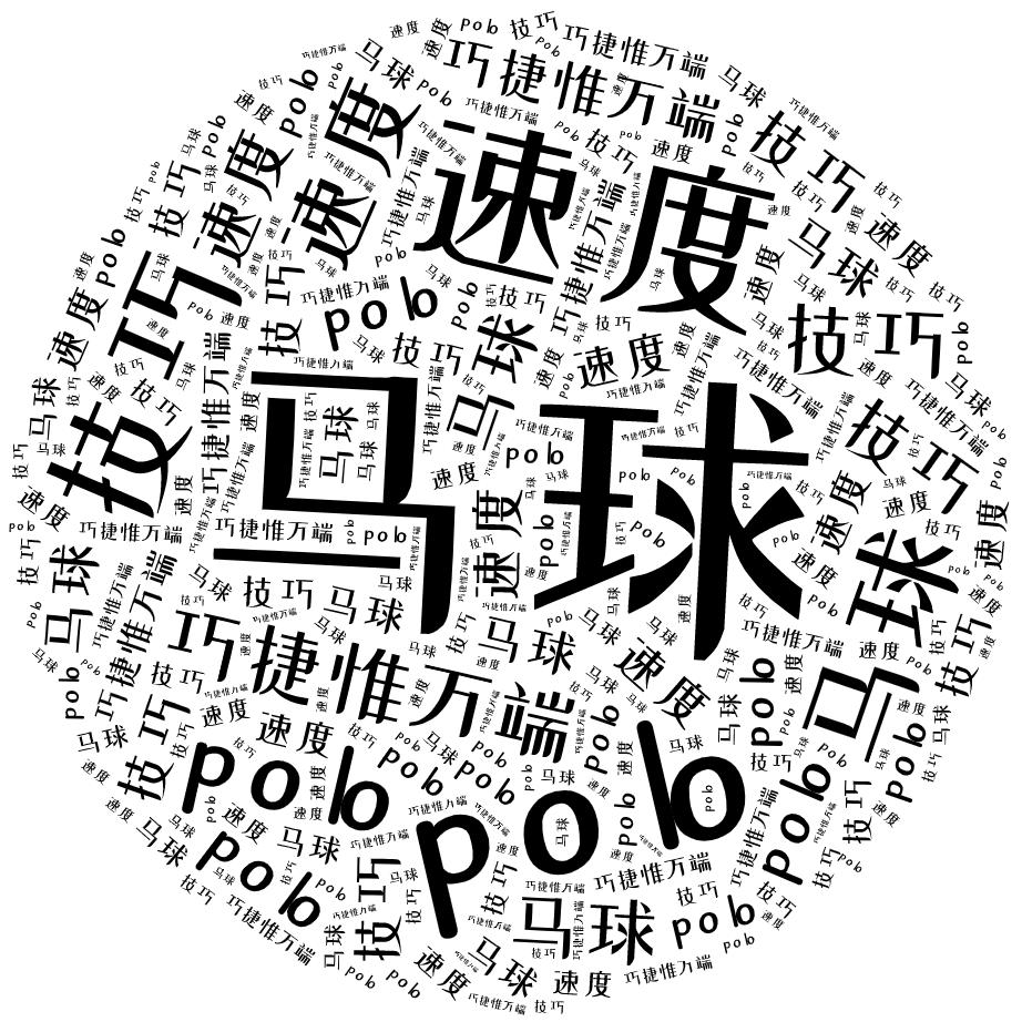 词云图,文字云,马球 polo 速度 技巧 巧捷惟万端